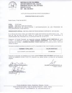 Acta estandarizacion proceso de facturacion